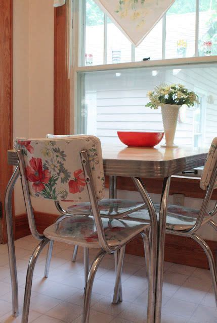 vinyl upholstery fabric for kitchen chairs very cool idea for fixing upholstery on those awesome 50 s
