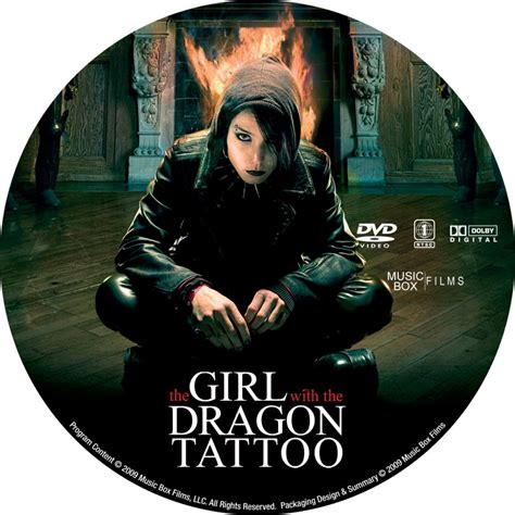 the girl with the dragon tattoo 2 the with the 2009 custom dvd labels