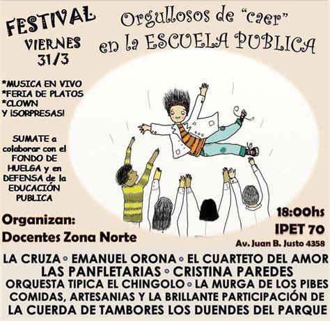 """Festival """"Orgullosos de caer en la escuela pública"""" Caer En La Escuela Publica"""