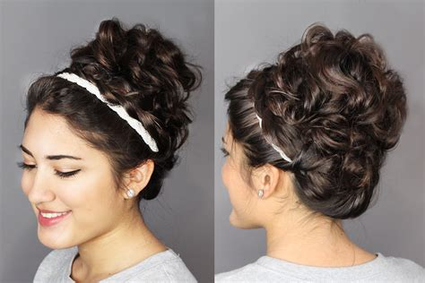 2nd day hairstyles second day hair updo braided headband