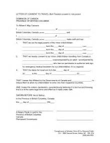 Authorization Letter For Child To Travel With Grandparents Sample Form