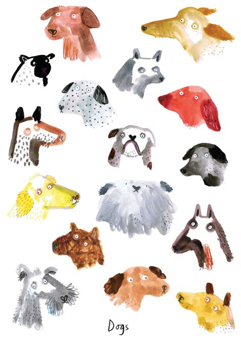 dog illustration lorna scobie  dog milk