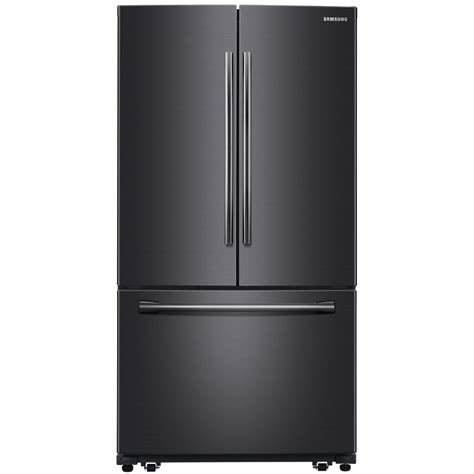 samsung fridge samsung 25 5 cu ft door refrigerator in fingerprint resistant black stainless