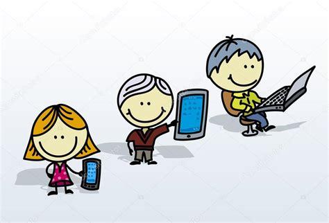 imagenes de niños jugando tablet computer kids stock vector 169 alanuster 15636401