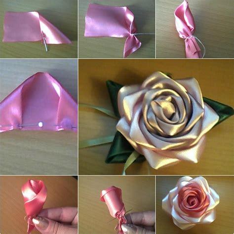 How to make pretty diy ribbon rose beesdiy com