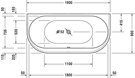 badewannen abmessungen new badewanne 700248 duravit