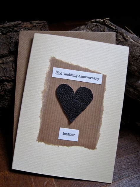 Leather Wedding Anniversary Card by The World S Catalog Of Ideas