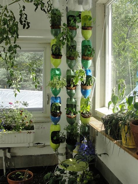 Vertical Bottle Garden Vertical Garden Diy Project For The Beautiful And