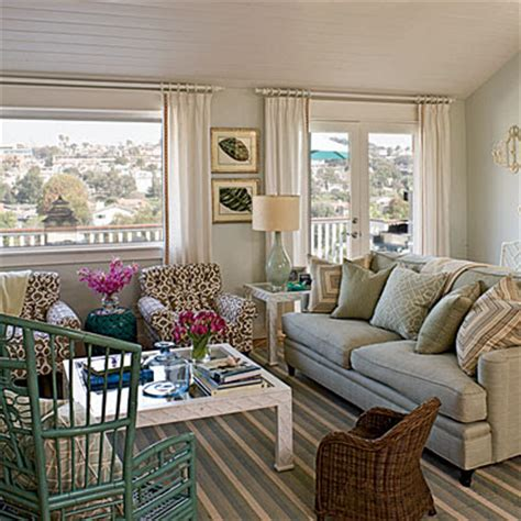 Country Blue Living Room by Nets Happy Place Coastal Living Window Treatments