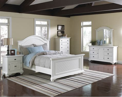 bedroom furniture set white brook off white 6 piece queen bedroom package the brick