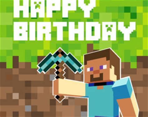 birthday card template minecraft minecraft backdrop design birthday digital file