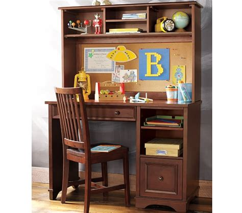 Kid Desk With Hutch Fillmore Desk Large Hutch Pottery Barn