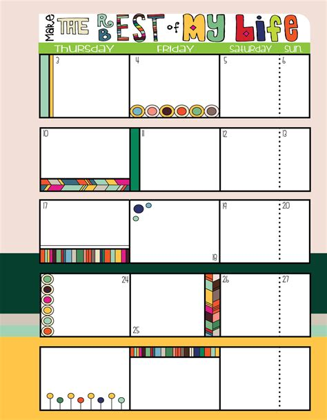 page calendar template search results for color blank calendar 2015 page 2