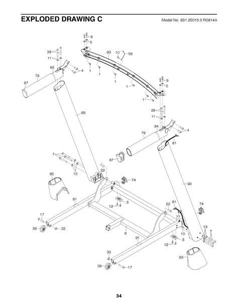 treadmill diagram nordictrack treadmill wiring diagram efcaviation