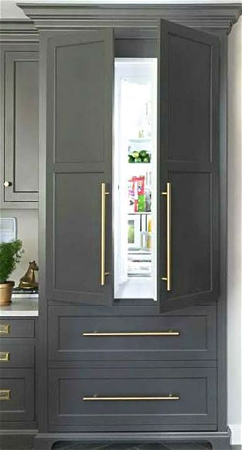 how to your fridge look like a cabinet best 20 built in refrigerator ideas on