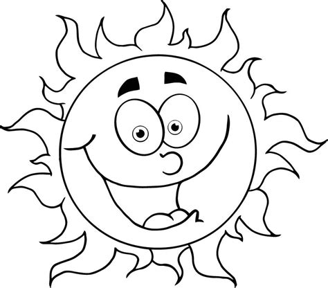 sun face coloring page colouring in cartoon sun for kids coloring point