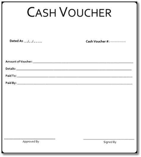 cash voucher format www pixshark com images galleries