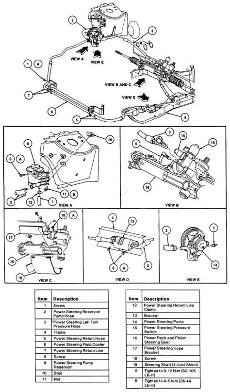 Power Steering: I Need a Diagram Showing the Route of the