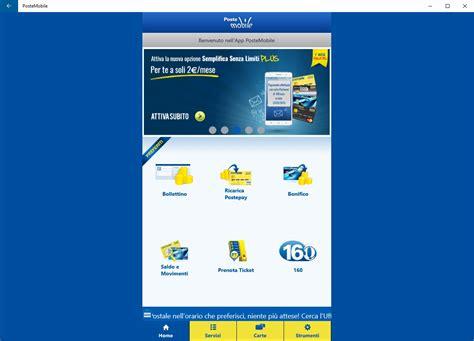 applicazione poste mobile l app ufficiale postemobile per windows phone e windows 10
