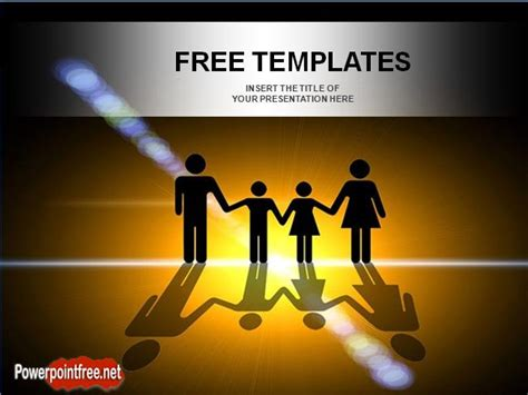 Health Insurance Powerpoint Templates Professional Family Powerpoint Templates Free