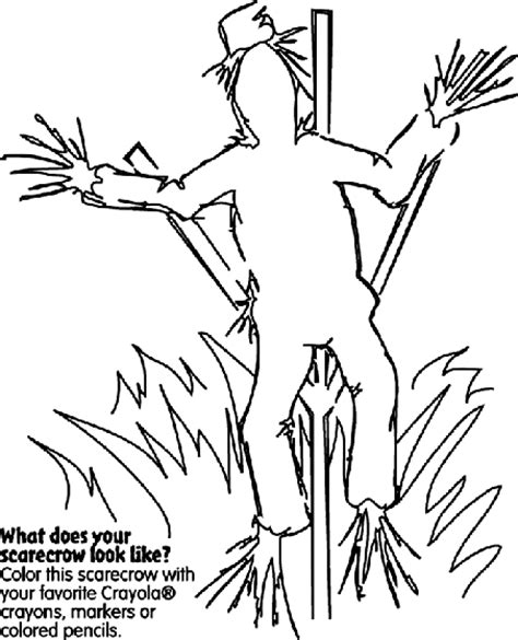 fall coloring pages crayola fall scarecrow coloring page crayola com