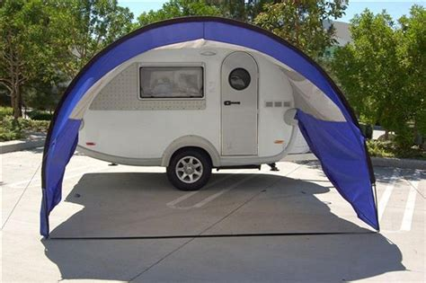 teardrop trailer awning tab awning front view vacation cing trailer