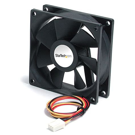 Fan Casing Black 8cm by Startech 9 25cm Bearing