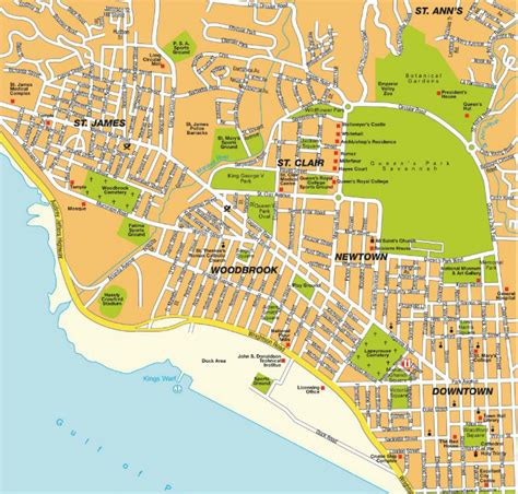 map of port of spain streets port of spain map and port of spain satellite image
