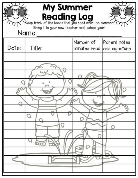 themes for reading logs reading logs for elementary students weekly reading logs