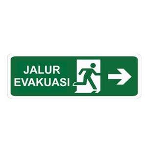Petunjuk Arah Jalur Evakuasi Gantung Bahan Akrylik 1 jual keselamatan tanda jalur evakuasi kanan glow in the