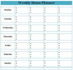 Home Menu Template by Pin Excel Weekly Meal Planner Template Software On