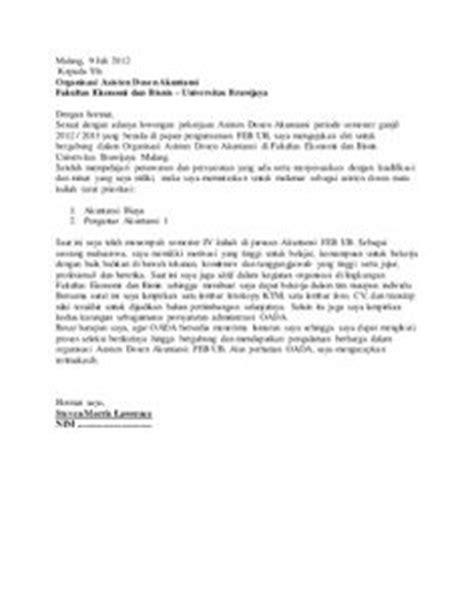 contoh surat lamaran kerja di cpns kejaksaan ben contoh
