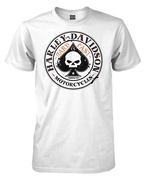 T Shirt Harley Davidson Logo Original harley davidson s spade willie g skull logo sleeve t shirt white ebay