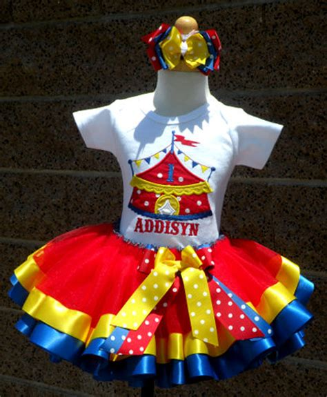 carnival themed birthday outfits circus tent birthday satin tutu skirt outfit