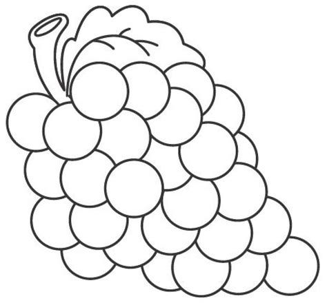 imagenes de uvas en dibujo uvas para colorear