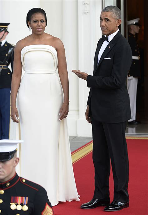 michelle obama dresses pics michelle obama s state dinner dress see her