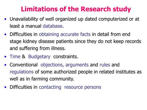 limitations of dissertation excellent ideas for creating limitation of research