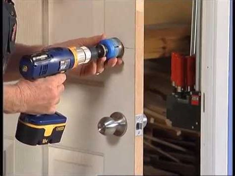 How To Install A Lock On A Door by How To Install A Door Lock Diy At Bunnings