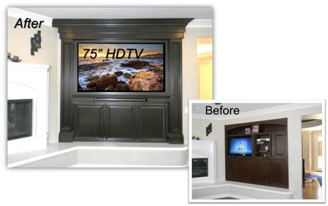hand crafted painted built in tv cabinetry by tony o hand crafted built ins entertainment centers appleton