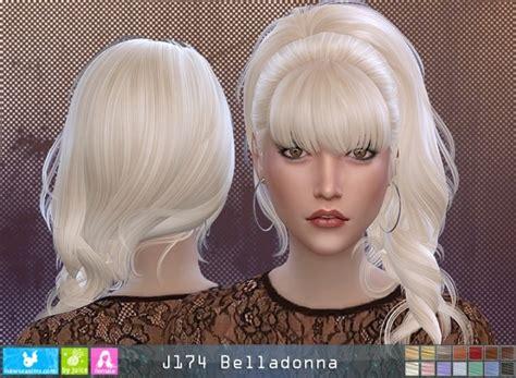 belladonna hair p  newsea sims  sims  updates