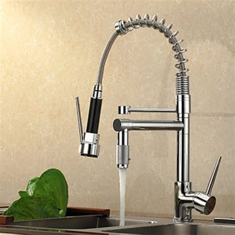 No Water Pressure In Kitchen Faucet Contemporary High Pressure Chrome Kitchen Faucet
