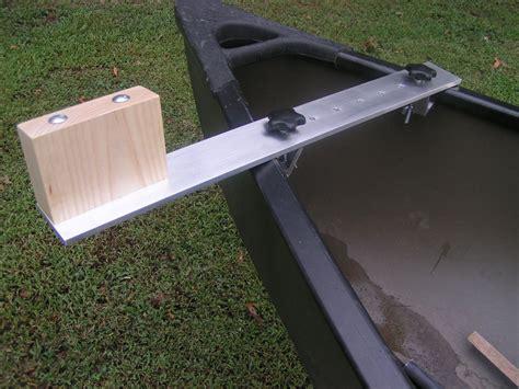 canoe trolling motor mount aluminum ash ebay - Electric Trolling Motor Canoe Mount