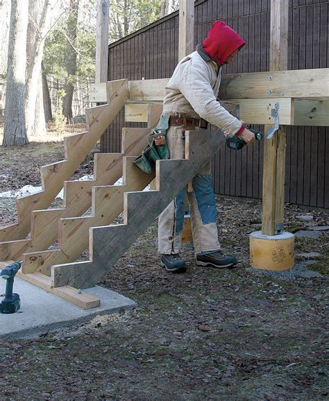 issue 248 dec jan 2015 fine homebuilding mounting deck stairs fine homebuilding