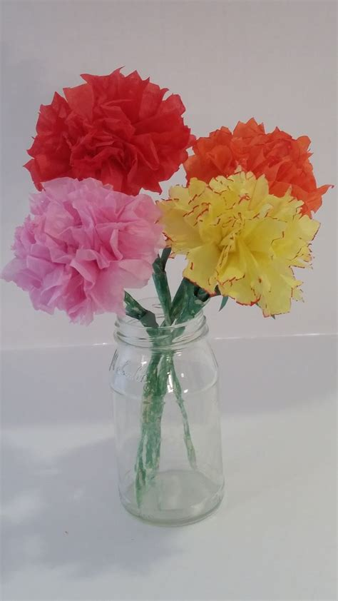Tissue Paper Flowers Step By Step - diy tissue paper carnation flowers the easy step by