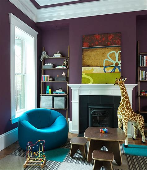 Wall Design For Living Room hot color trends coral teal eggplant and more