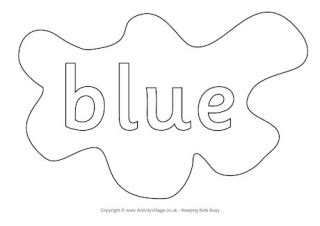 blue coloring pages for toddlers colour colouring pages splats