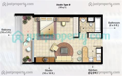 Rsna Floor Plan by Studio Type Floor Plan Thefloors Co