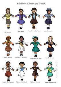 world thinking day brownie uniforms from around the