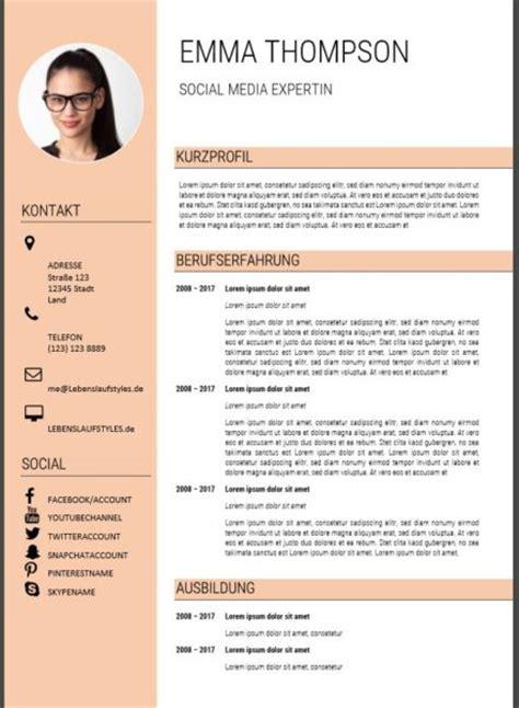 Moderne Bewerbungsschreiben Vorlagen ᐅ Moderner Lebenslauf Muster Vorlagen In Word Kostenlos