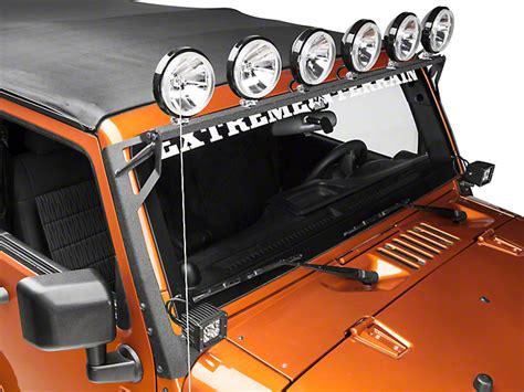 jk light bar mount raxiom jeep wrangler light bar mount brackets black